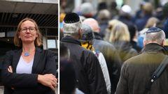 Sara Wettergren (L), Malmös kommunalråd med ansvar för skola och utbildning, samt en kippavandring mot antisemitism i Malmö. Foto: Malmö stad/Emil Langvad/TT.