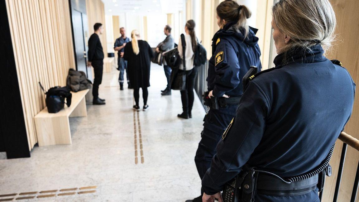 Bild från rättegången i Lund. Foto:Johan Nilsson/TT.