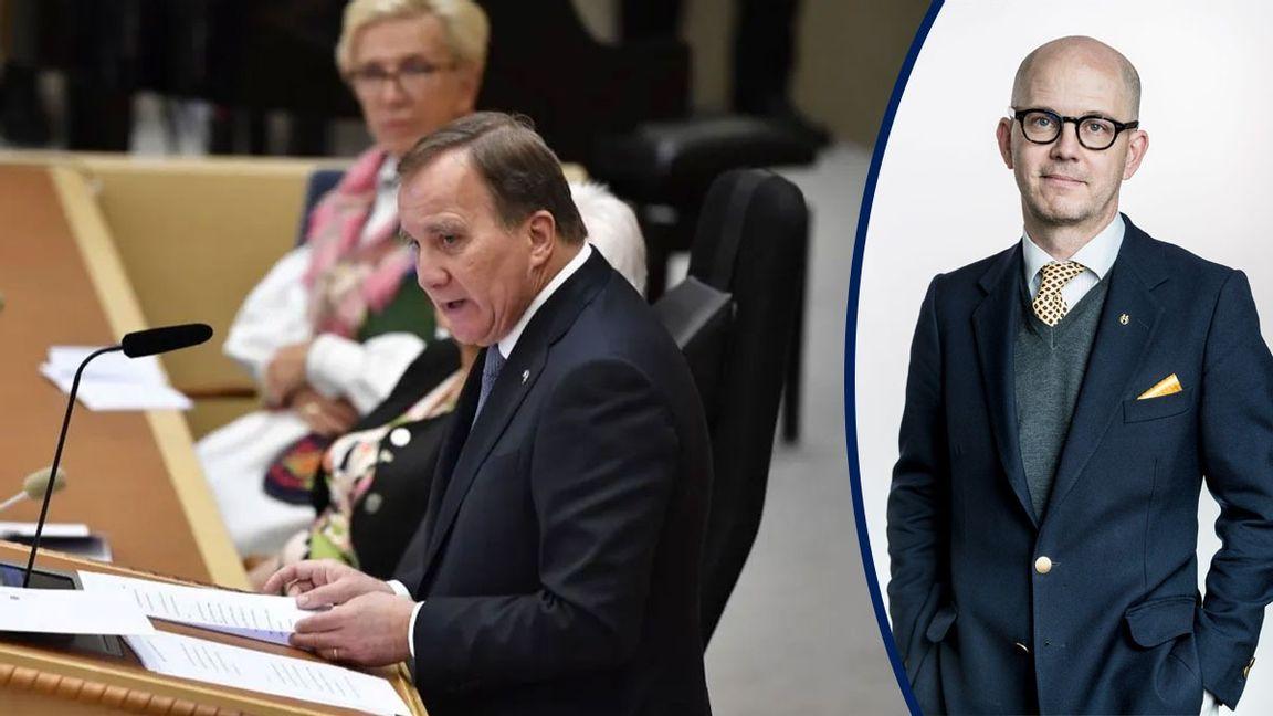 Vid riksmötets öppnande på tisdagen höll statsminister Stefan Löfven (S) sin sista regeringsförklaring. Foto: Pontus Lundahl, TT.