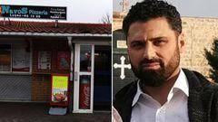 Nevzat Aykuts pizzeria har blivit vandaliserad fyra gånger på två veckor. Foto: Privat.