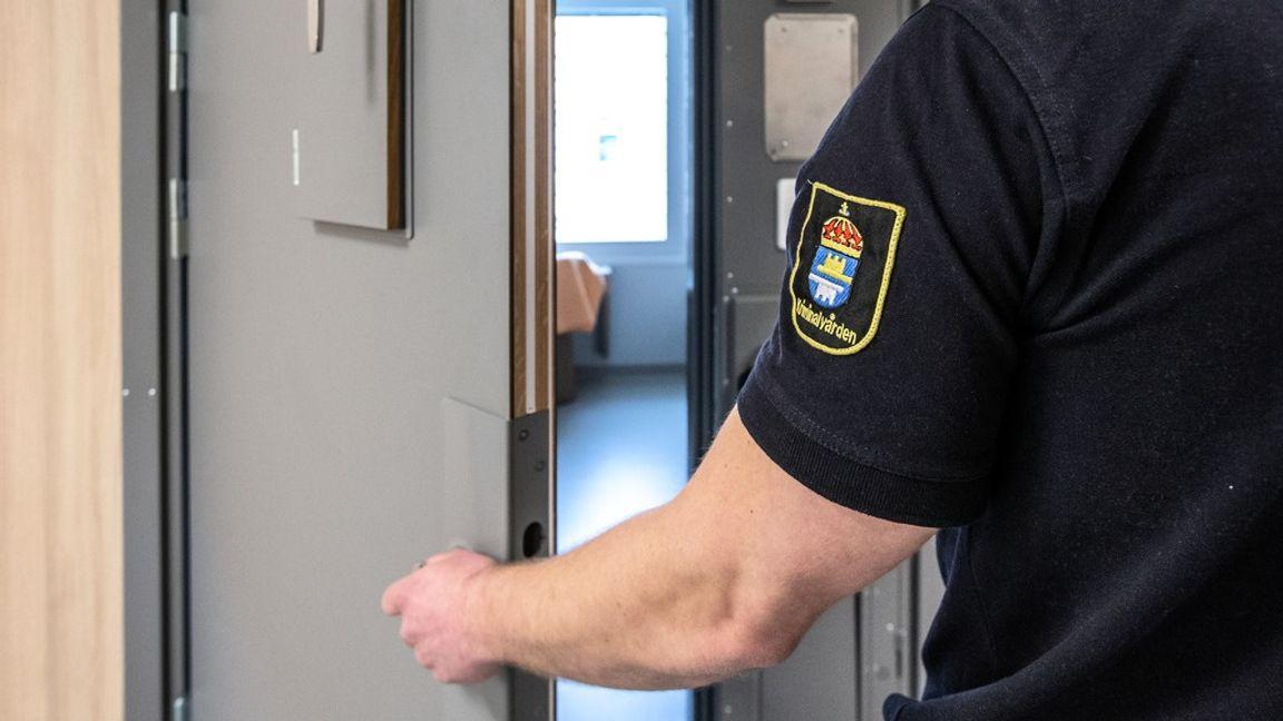 En insats pågår på Hällbyanstalten. Arkivbild. Foto: Per Danielsson/TT
