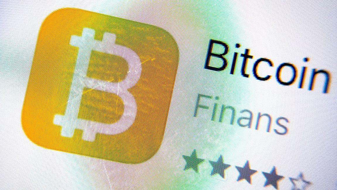 Bitcoin kan handlas i appar. Arkivbild Foto: Gorm Kallestad /NTB scanpix/TT