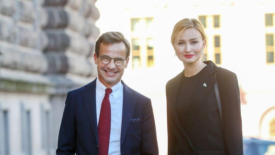Ulf Kristersson (M) och Ebba Busch (KD). Arkivbild. Foto: Sören Andersson/TT