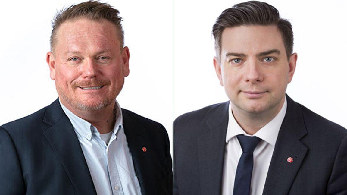 Staffan Jansson, Västerås kommuns ordförande, och Jimmy Jansson, Eskilstunas kommuns ordförande, slåss om Northvolt och Volvo Cars nya bolag.