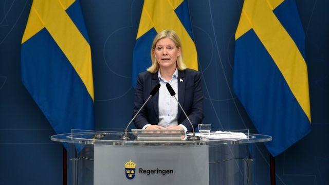 Socialdemokraterna kan ha finansminister Magdalena Andersson (S) att tacka för sitt ökade stöd, enligt en statsvetare. Foto: Robin Ek/TT