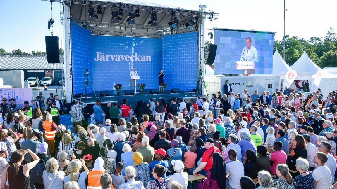 Politikveckan arrangerades första gången 2016 som ett alternativ till Almedalsveckan i Visby. Foto: Anders Wiklund/TT.