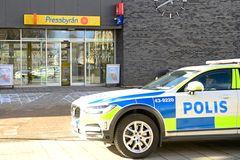 Resecentrum i Vetlanda, i närheten av platsen där en av onsdagens knivattacker ägde rum. Foto: MIkael Fritzon/TT.