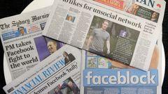 I torsdags blockerades allt nyhetsinnehåll för australiska Facebookanvändare. Foto: Rick Rycroft/AP/TT.