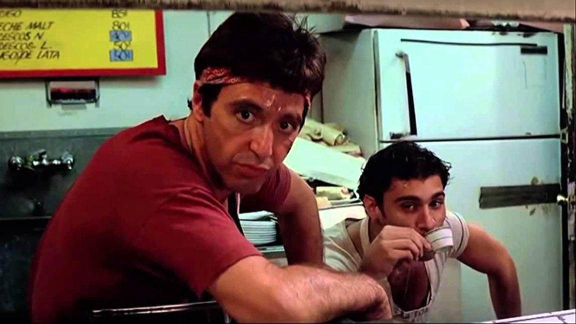 Al Pacino som Tony Montana i Brian De Palmas Scarface. Foto: UIP.