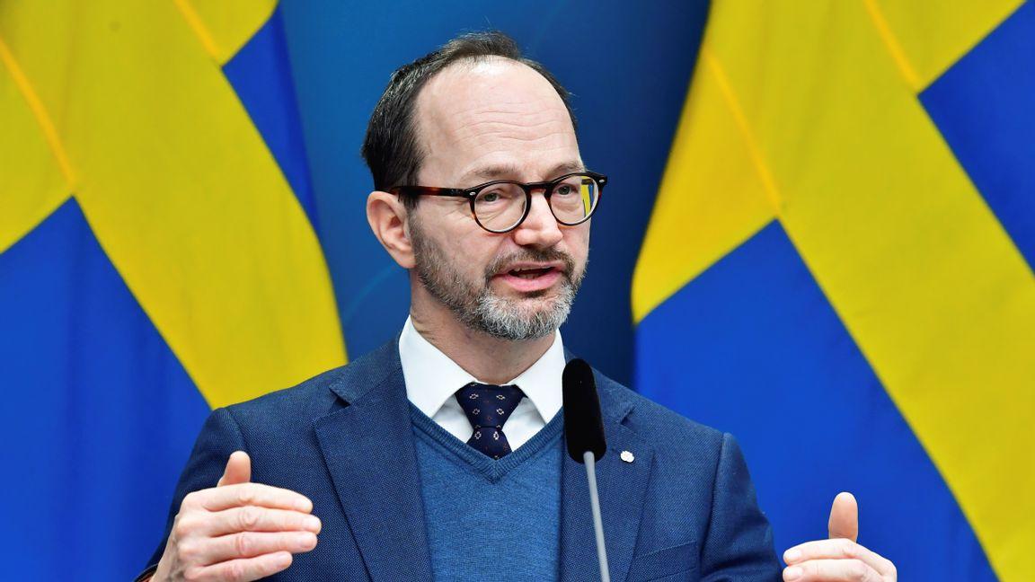 Infrastrukturminister Tomas Eneroth (S). Foto: Jonas Ekströmer / TT