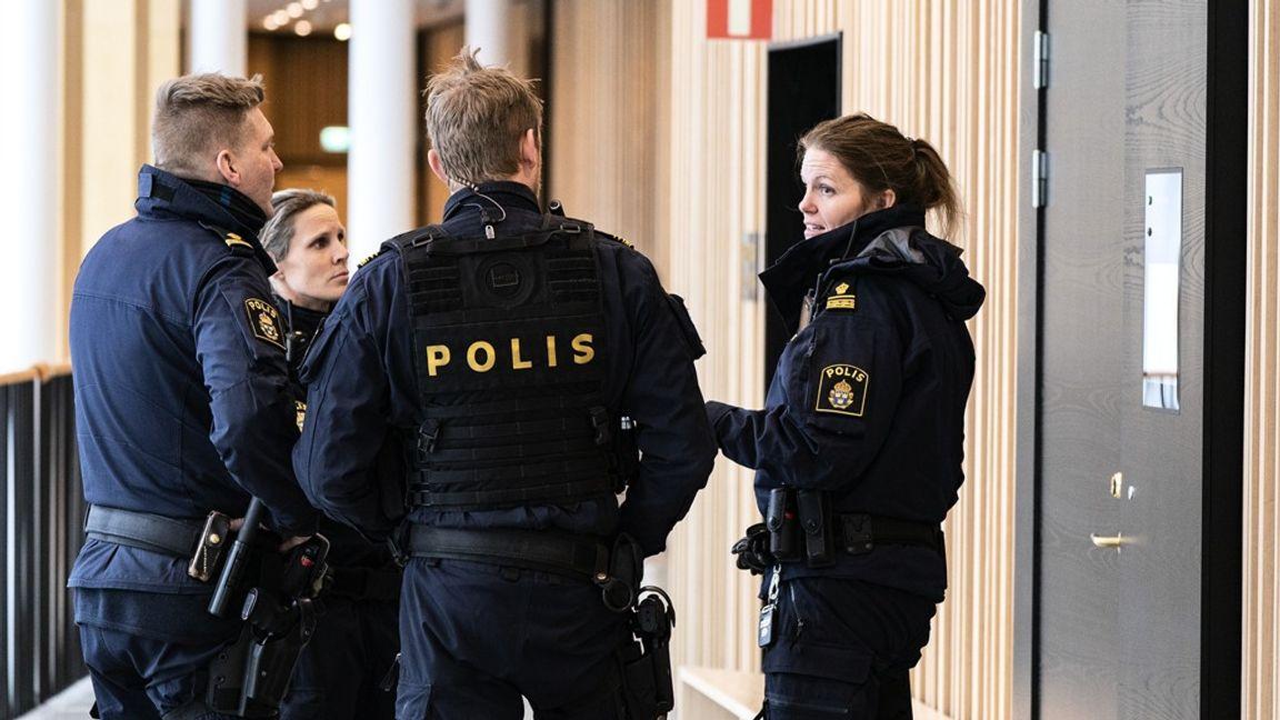 Från huvudförhandlingen vid Lunds tingsrätt. Foto: Johan Nilsson/TT.